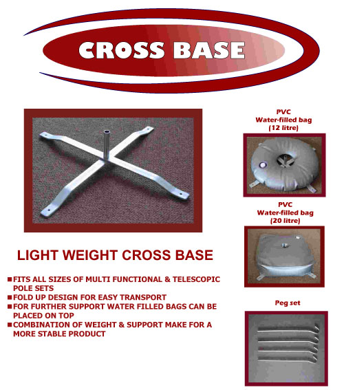 Light weight cross base